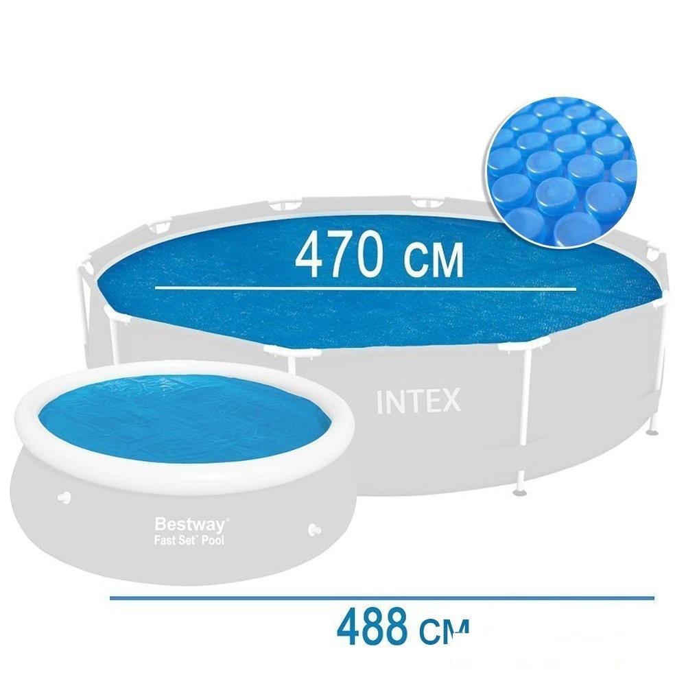 Солярный тент для бассейна Intex, 488 см, с эффектом антиохлаждение  (29024)