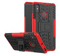 Броня чехол Ёлка для Xiaomi Mi MAX 3 Красный