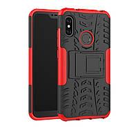 Броня чехол Ёлка для Xiaomi MiA2 Lite / Xiaomi Redmi 6 PRO Красный