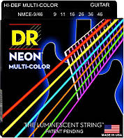 Струны для Электрогитары DR NMCE-9/46 Hi-Def Neon Multi-Color K3 Coated Light Heavy Electric Guitar Strings 9/46