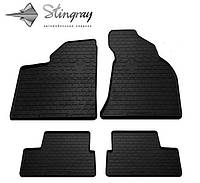 Резиновые коврики в Lada 2111 2000- Stingray комплект 4шт черные Лада 2111