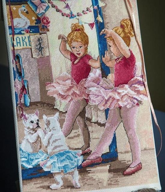 Набір для вишивки хрестом Мережка К-74 «Балерини»