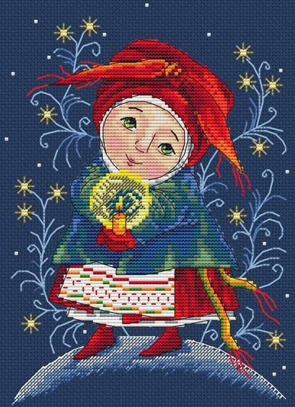 Набор для вышивки крестом Мережка К-19 «Рождественский огонек»