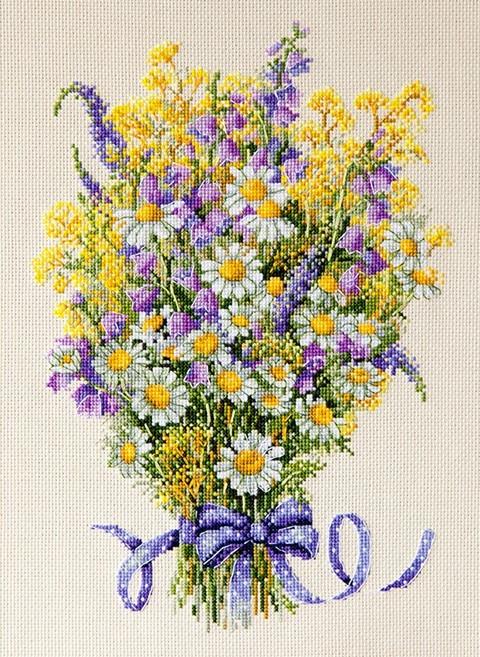 Набор для вышивки крестом Мережка К-72 «Летние цветы»