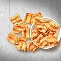 Снеки жареные соленые со  вкусом  бекона 1.4кг (весовые)