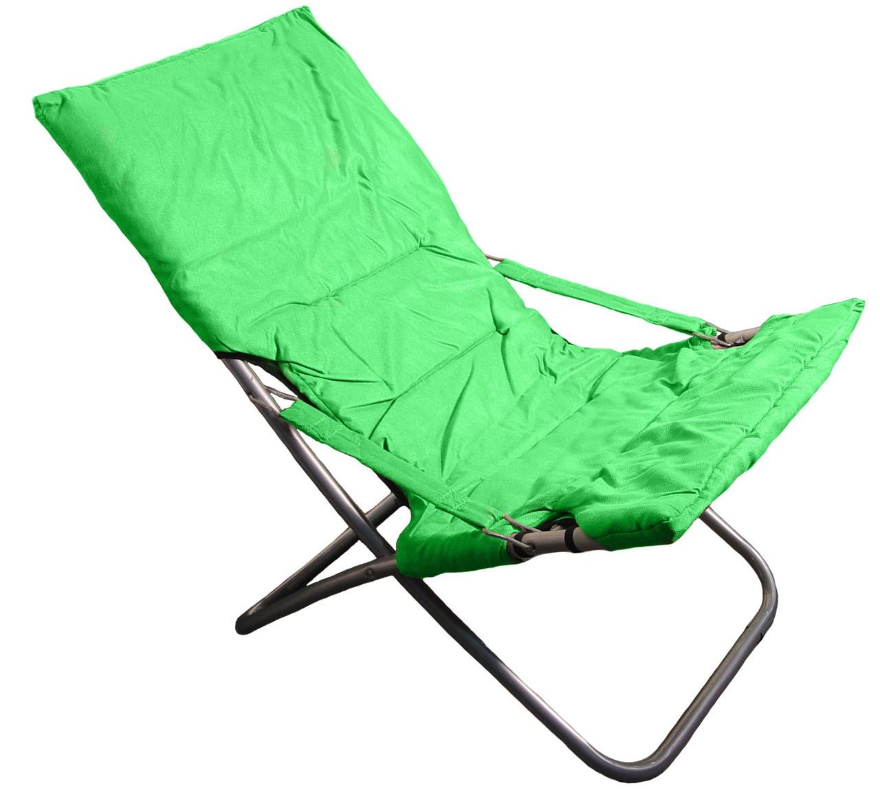 Кресло-шезлонг R28812 100х61х95 см, зеленое
