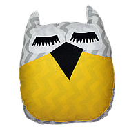 "Декоративная подушка ""Сова"" 45х35 (желтый/серый) ТМ ""Хатка"" (700037)"