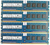 Комплект оперативной памяти Hynix DDR3 16Gb (4*4Gb) 1600MHz PC3 12800U 1R8 CL11 (HMT451U6AFR8C-PB N0 AA) Б/У, фото 1
