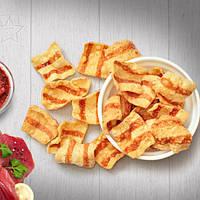 Снеки жареные соленые со  вкусом  телятины с аджикой 1.4кг(весовые)