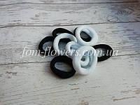 Резинка для волос. Цвет: черно-белые. 10 шт. 2,5см