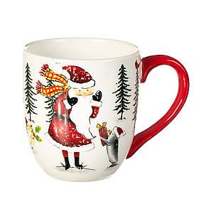 """Чашка """"Дед Мороз в лесу"""" (10*11,5 см), 006NR"""