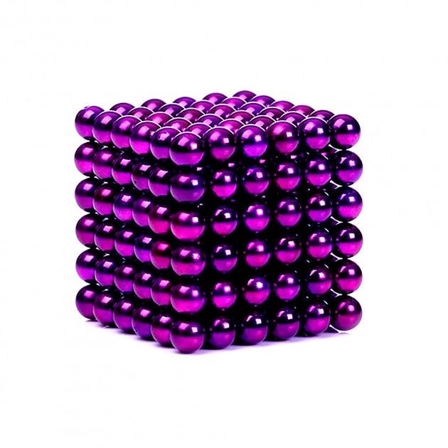 Неокуб 📌 Фиолетовый [5мм * 216 шариков] в КОРОБОЧКЕ NeoCube