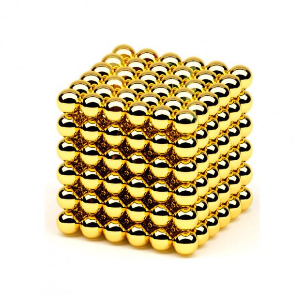 Неокуб 📌 Золотой [5мм * 216 шариков] в КОРОБОЧКЕ NeoCube
