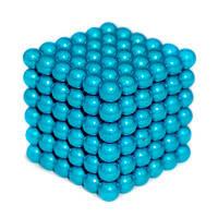 Неокуб 📌 ГОЛУБОЙ 📌 [5мм * 216 шариков] в КОРОБОЧКЕ NeoCube