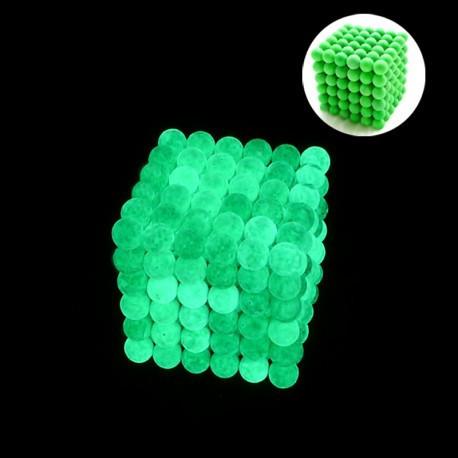 💥 СВЕТЯЩИЙСЯ в темноте 💥 НЕОНОВЫЙ Неокуб 💥 NeoCube (фосфорный, флуоресцентный) 5мм 216 шариков