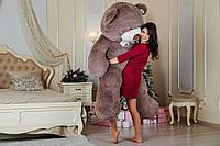 Большой плюшевый мишка Yarokuz Ричард 200 см Капучино