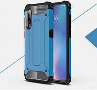 Противоударный чехол с заглушками для Xiaomi Mi9 SE Синий