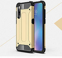 Противоударный чехол с заглушками для Xiaomi Mi9 SE Золотистый