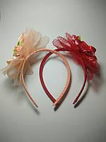 Обруч для волос с большим цветком