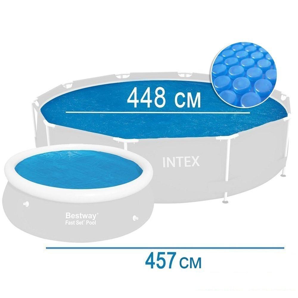 Солярный тент для бассейна Intex, 457 см, с эффектом антиохлаждение   (29023)