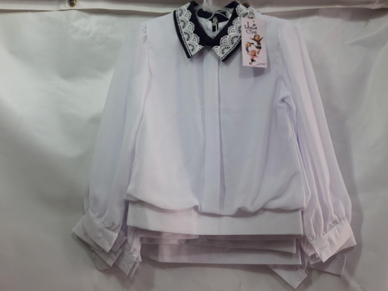 Школьная блузка для девочки с длинным рукавом р.122-146 опт