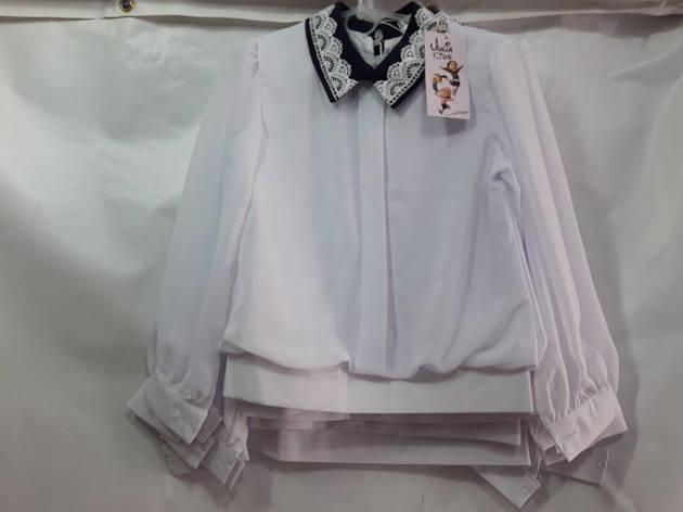 Школьная блузка для девочки с длинным рукавом р.122-146 опт , фото 2