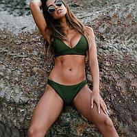 Роздільний жіночий купальник CUPSHE бікіні зелений, розмір, фото 1