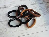 Резинка для волос. Цвет: черные и коричневые. 10 шт. 4 см, фото 1