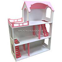 Игрушечный кукольный деревянный домик Макси с лестницей. Обустройте домик для кукол, фото 1