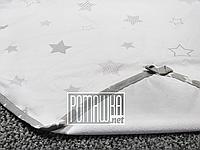Непромокаемая пеленка 80х60 см для новорожденного (100% хлопок) двухсторонняя многоразовая 4242 Белый, фото 1