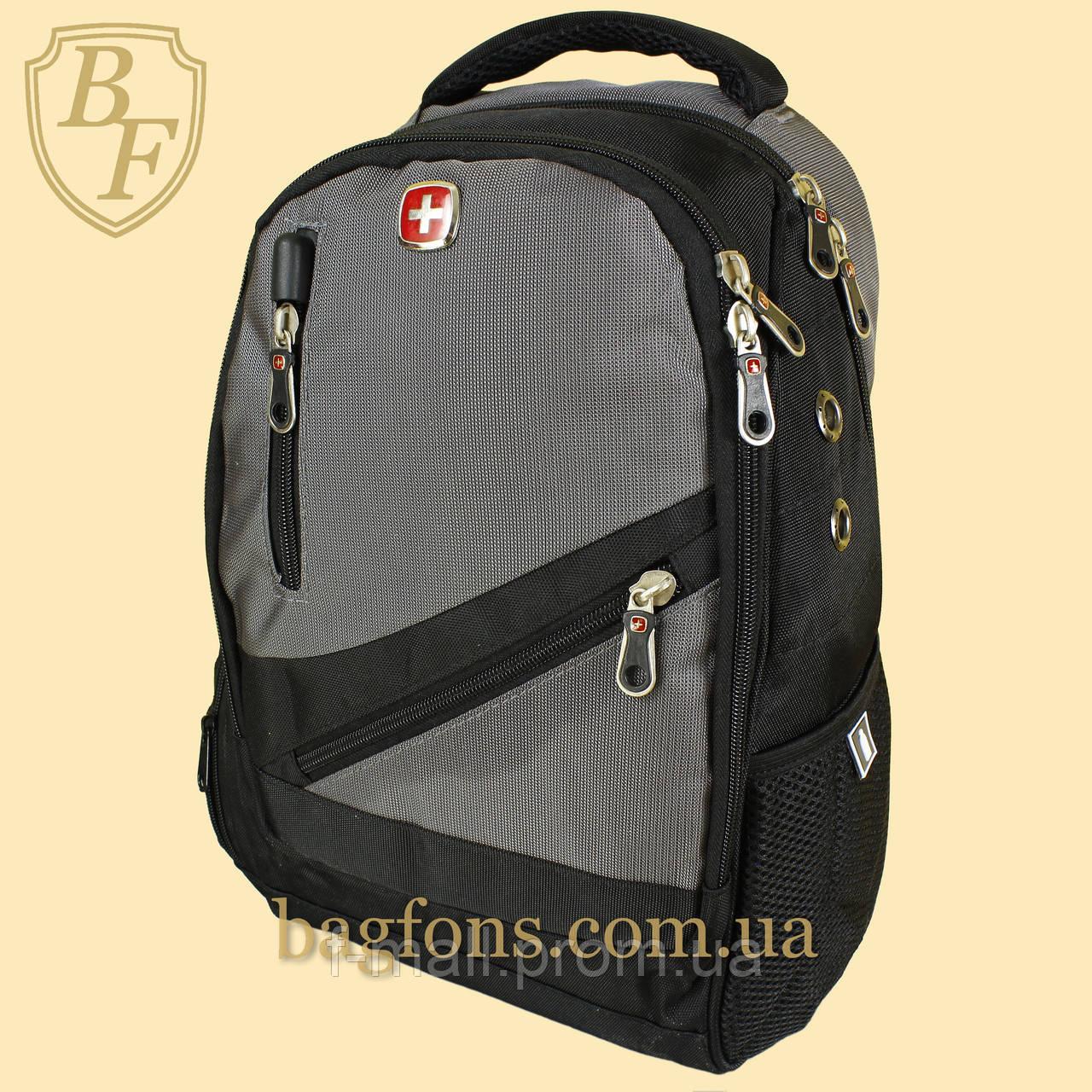 Рюкзак городской школьный SwissGear 17л Серый (8815-1)