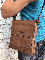 Стильная деловая мужская сумка POLO через плечо лучшего качество!