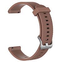 Ремешок для смарт часов из силикона, 22 мм (Коричневый), фото 1