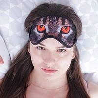 """Маска для сна (повязка для сна) 100% хлопок """"Кошачьи глаза"""""""