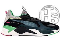 Мужские кроссовки Puma RS-X Toys Black/Blue Atoll 369449-01 45