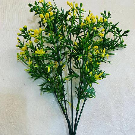 Декоративный куст-дополнитель с ягодами (желтый), фото 2