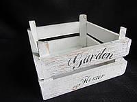 Ящик деревянный 19,5х19,5х11 см, (85)