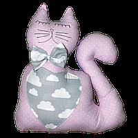 "Декоративная подушка ""Кот"" 40х45 (розовый/серый) ТМ ""Хатка"" (700038)"