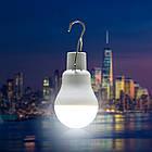 Лампа портативная с солнечной зарядной панелью. Лампа туристическая с солнечной зарядкой, фото 9