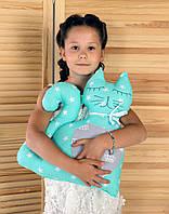 """Декоративна подушка """"Кіт"""" 40х45 (м'ятний/сірий) ТМ """"Хатка"""" (700002), фото 1"""