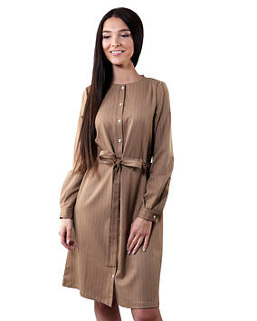 Платье-рубашка SL 179 с поясом (в размерах XS-2XL)