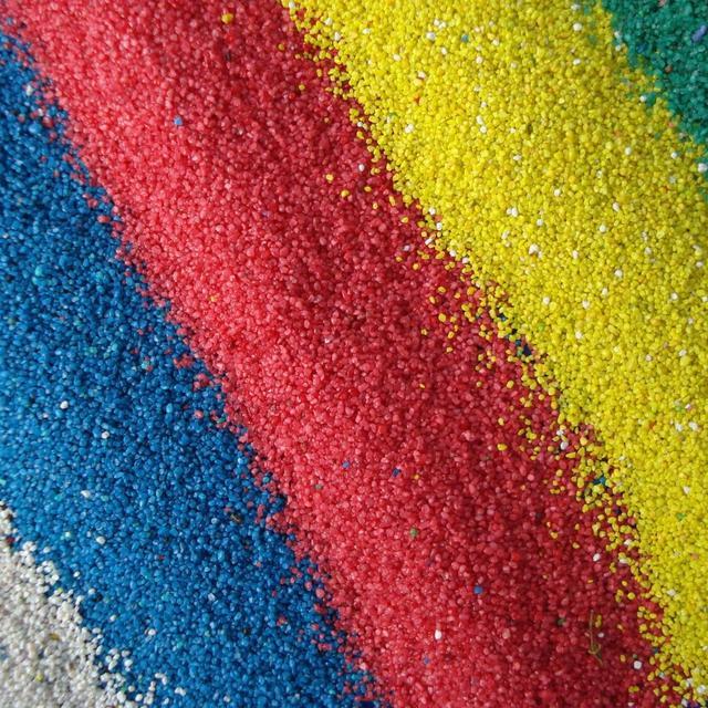 Фракционированный цветной песок