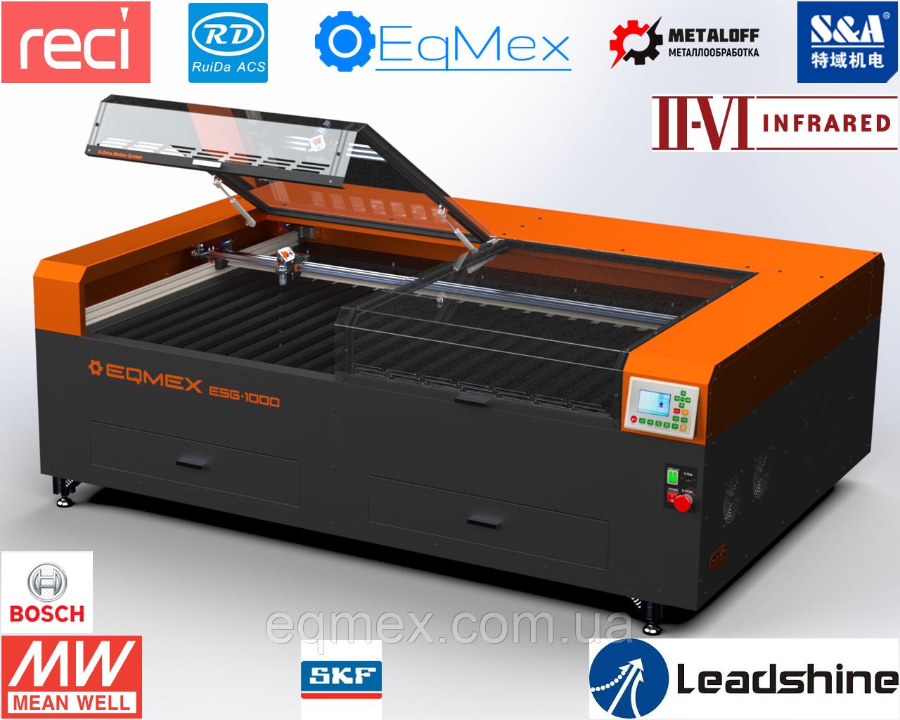 (5995$) Лазерный станок порезчик гравер Laser ESG-1000 CO2 - 75Вт