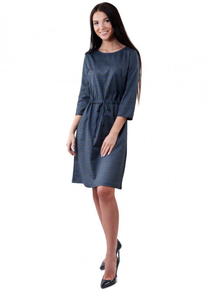 Картате міді-приталене плаття (в розмірах М-XL)
