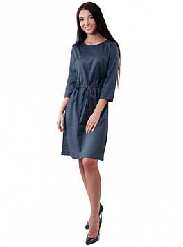 Клетчатое миди-платье приталенное (в размерах М-XL)