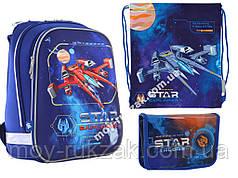 """Набор: рюкзак ортопедический + сумка для обуви + пенал «1 Вересня» """"Star Explorer"""" H-12, 555960-1"""