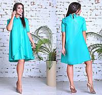 Платье свободного покроя с воротничком