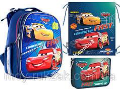 """Набор: рюкзак ортопедический + сумка для обуви + пенал H-25 """"Cars"""" «1 Вересня», 556201-1"""