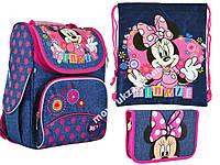 "Набор: рюкзак ортопедический + сумка для обуви + пенал «YES» ""Minnie"" H-11, 556140-1"