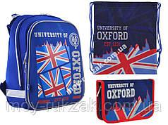 "Набор: рюкзак ортопедический + сумка для обуви + пенал «YES» ""Oxford"" H-12, 555956-1"